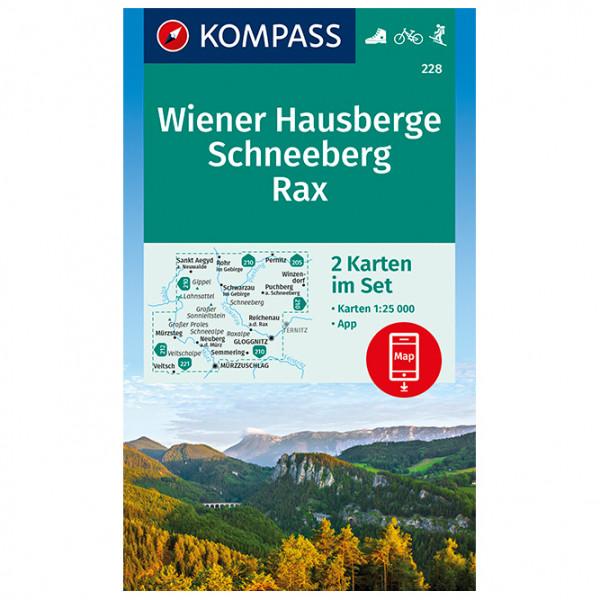 Kompass - Wanderkarte Wiener Hausberge, Schneeberg, Rax - Mapa de senderos