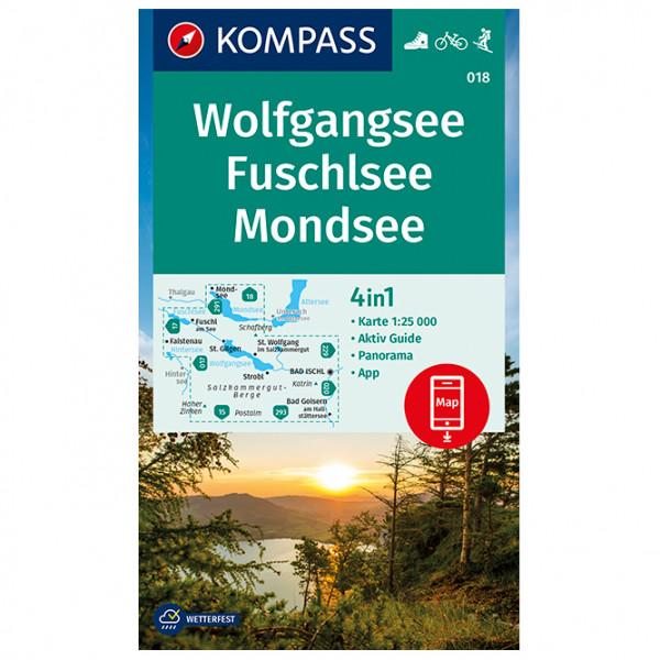 Kompass - Wanderkarte Wolfgangsee, Fuschlsee, Mondsee - Wanderkarte