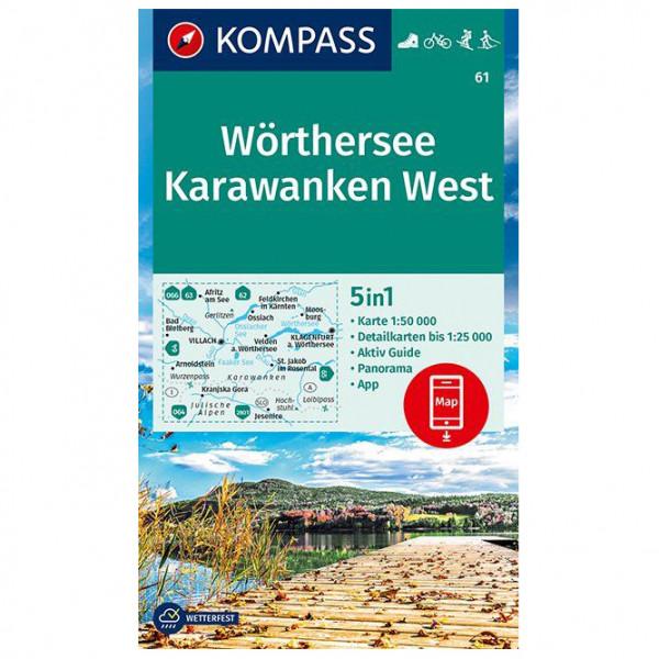 Kompass - Wanderkarte Wörthersee, Karawanken West - Vandrekort