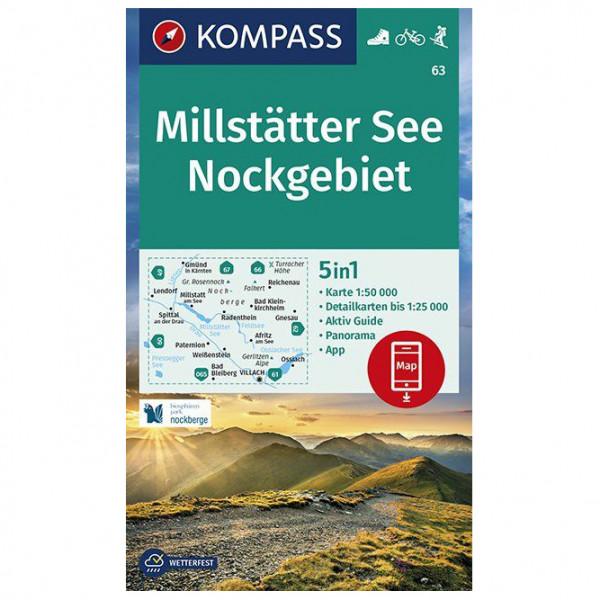 Kompass - Wanderkarte Millstätter See, Nockgebiet - Wanderkarte