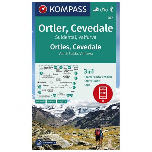 Wanderkarte Ortler, Cevedale, Suldental, Valfurva - Hiking map