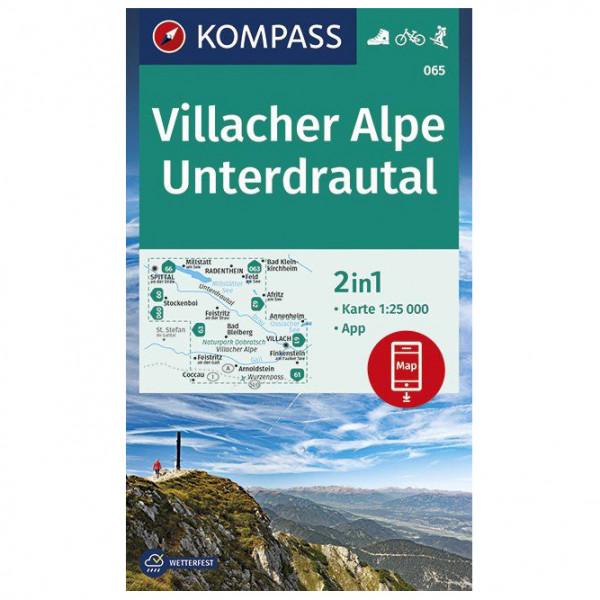 Kompass - Wanderkarte Villacher Alpe, Unterdrautal - Hiking map