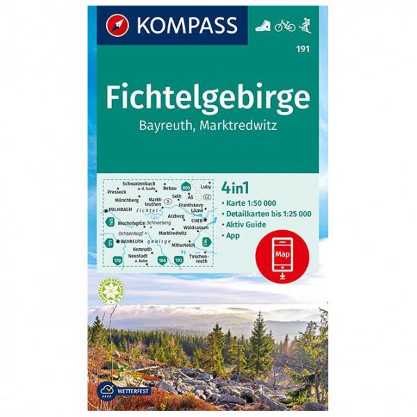 Kompass - Wanderkarte Fichtelgebirge Bayreuth Marktredwitz - Vandrekort