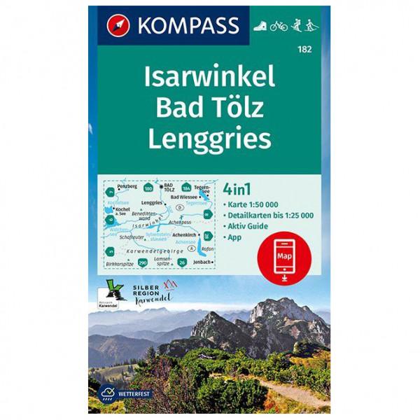Kompass - Wanderkarte Isarwinkel Bad Tölz Lenggries - Hiking map