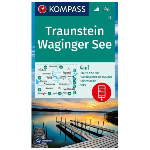 Kompass - Wanderkarte Traunstein Waginger See - Mapa de senderos