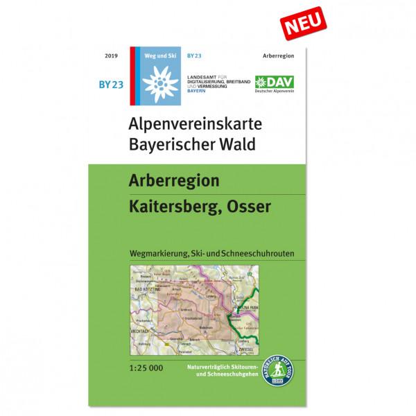 DAV - Bayerischer Wald, Arberregion, Kaitersberg, Osser - Vandringskartor