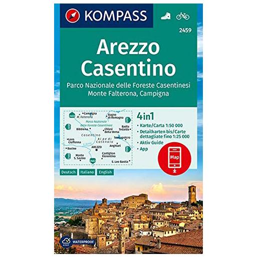 Arezzo, Casentino - Hiking map