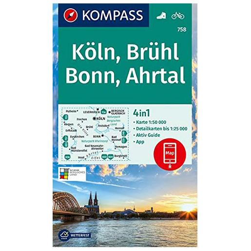 K ¶ln, Brhl, Bonn, Ahrtal - Hiking map