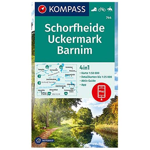 Kompass - Schorfheide, Uckermark, Barnim - Wanderkarte