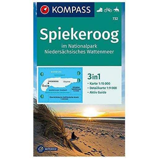 Kompass - Spiekeroog, Nationalpark - Wandelkaart
