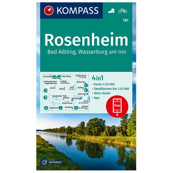 Kompass - 181 Rosenheim, Bad Aibling, Wasserburg Am Inn - Wanderkarte
