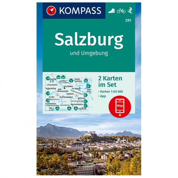 Kompass - 291 Salzburg U. U. (2-K-Set) - Carte de randonnée