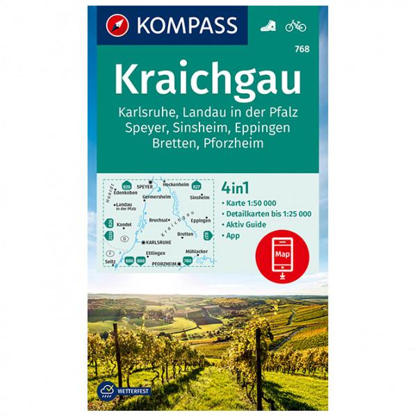 768 Kraichgau, Karlsruhe - Hiking map