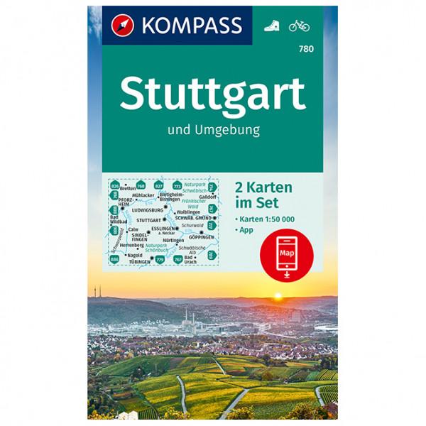 Kompass - 780 Stuttgart U Umgebung (2-K-Set) - Carte de randonnée