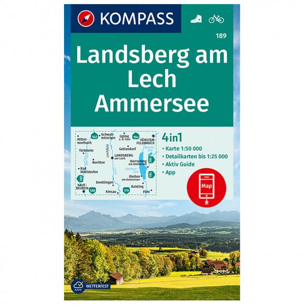 Kompass - Wanderkarte Landsberg Am Lech, Ammersee - Wanderkarte