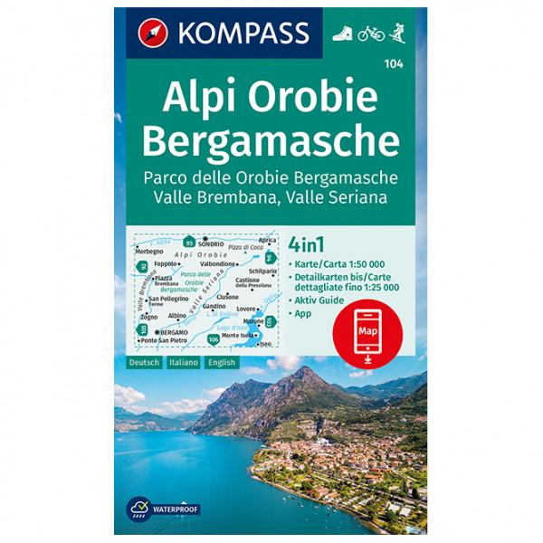Alpi Orobie Bergamasche - Hiking map