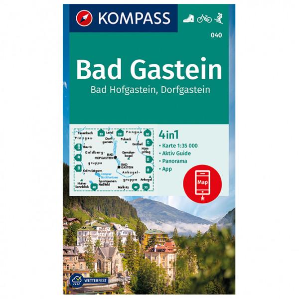 Bad Gastein, Bad Hofgastein,Dorfgastein - Hiking map