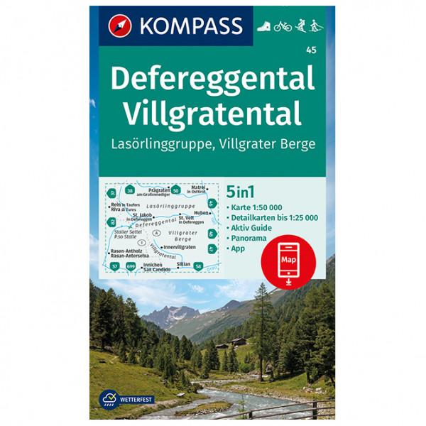 Defereggental, Villgratental, Las ¶rlinggruppe - Hiking map