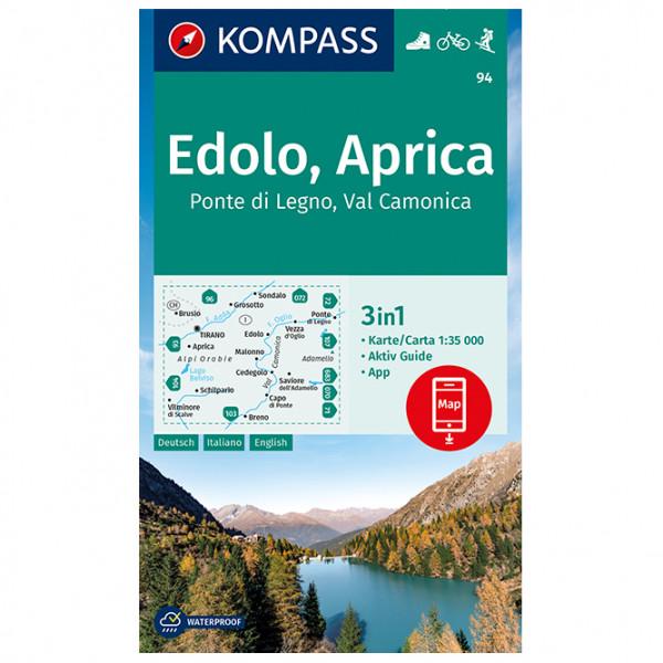 Kompass - Edolo, Aprica, Ponte di Legno, Val Camonica - Wanderkarte