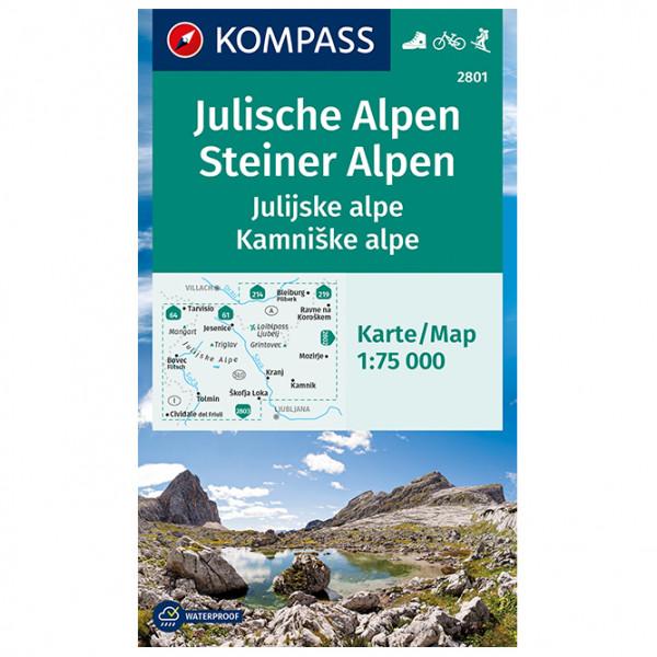 Kompass - Julische Alpen/Julijske alpe, Steiner Alpen - Wanderkarte