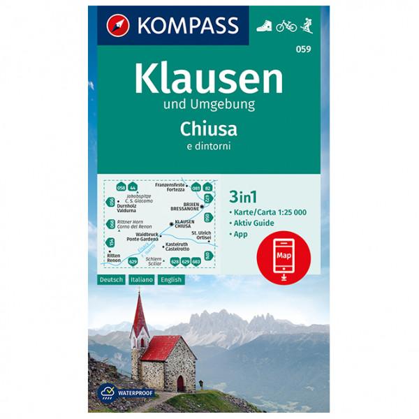 Kompass - Klausen und Umgebung Chiusa e dintorni - Wandelkaart