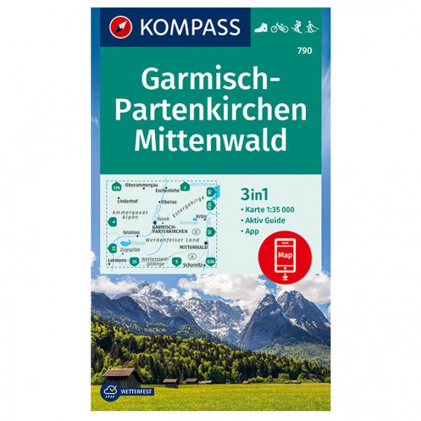 Garmisch-Partenkirchen, Mittenwald - Hiking map