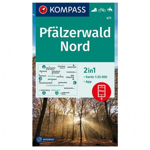 Pf ¤lzerwald Nord - Hiking map