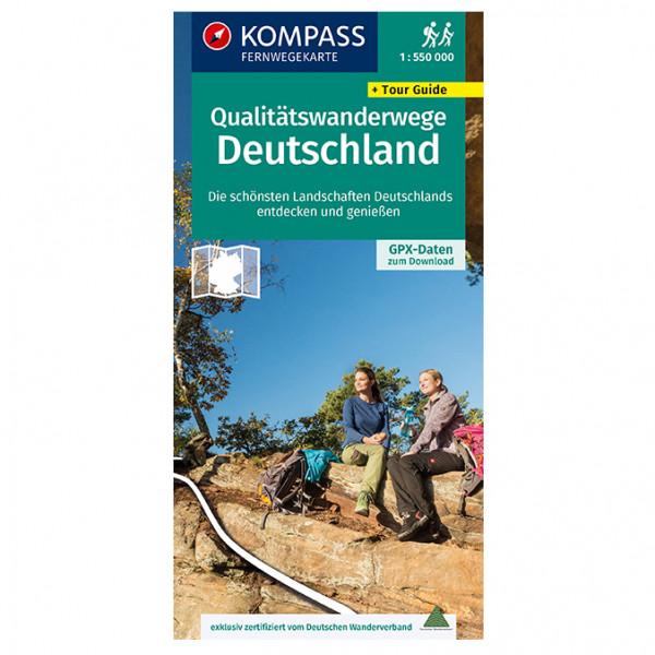 Qualit ¤tswanderwege Deutschland - Hiking map