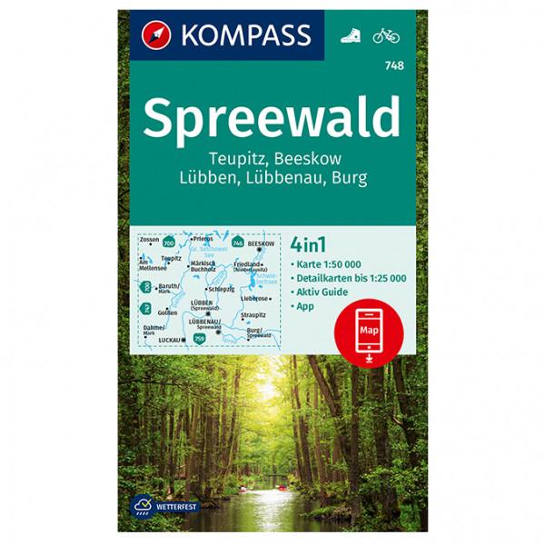 Spreewald, Eupitz, Burg - Hiking map