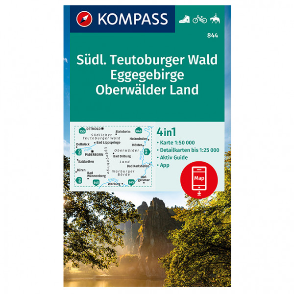 Kompass - Südl. Teutoburger Wald - Wanderkarte
