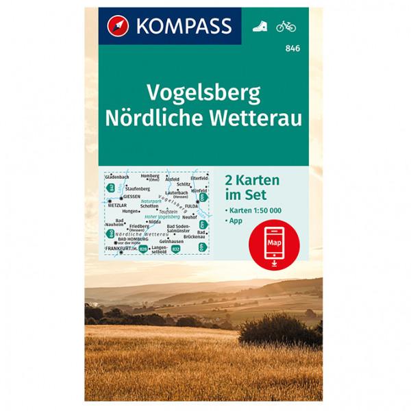 Kompass - Vogelsberg, Nördl. Wetterau - Wanderkarte