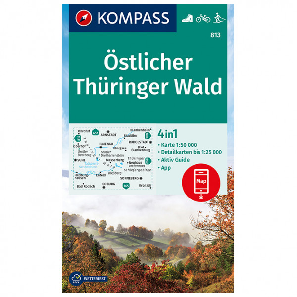Kompass - Östlicher Thüringer Wald - Wanderkarte
