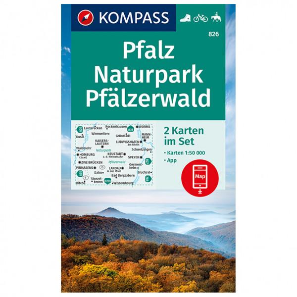 Pfalz, Naturpark Pf ¤lzerwald - Hiking map