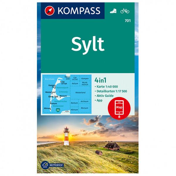 Kompass - Sylt - Carte de randonnée