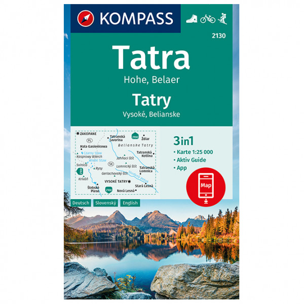 Kompass - Tatra Hohe, Belaer, Tatry, Vysoké, Belianske - Wanderkarte