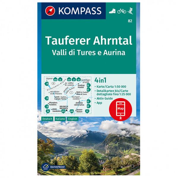 Kompass - Tauferer Ahrntal, Valle di Tures e Aurina - Wanderkarte
