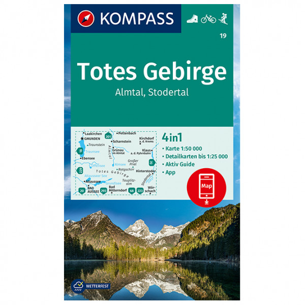 Kompass - Totes Gebirge, Almtal, Stodertal - Carta escursionistica