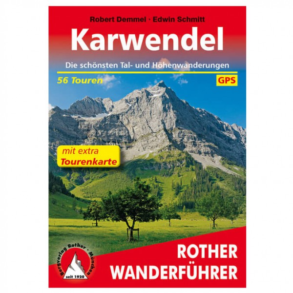 Bergverlag Rother - Karwendel Wanderführer mit Tourenkarte