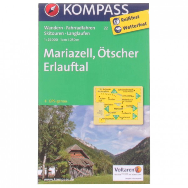 Kompass - Mariazell, Ötscher Erlauftal - Wandelkaarten