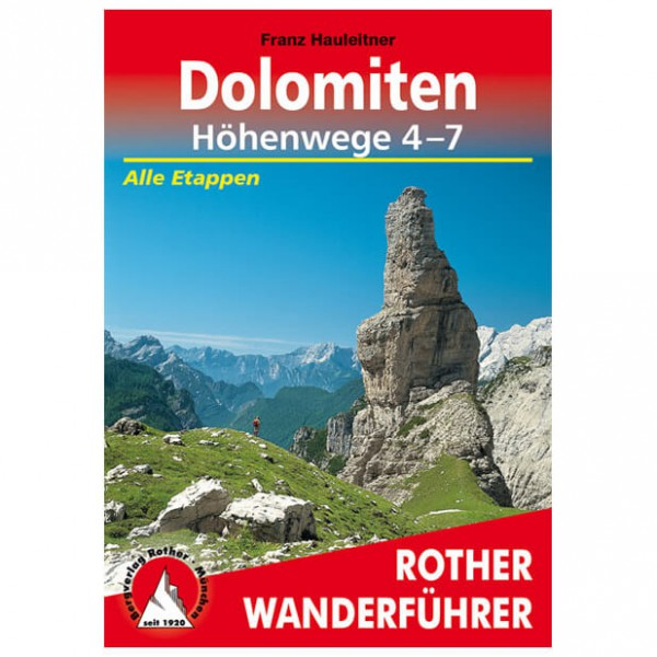 Bergverlag Rother - Dolomiten-Höhenwege 4-7 - Walking guide book