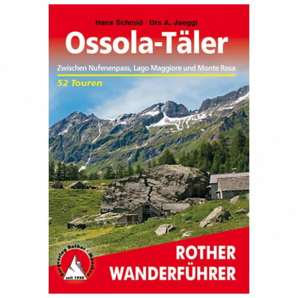 Bergverlag Rother - Ossola-Täler - Wandelgidsen