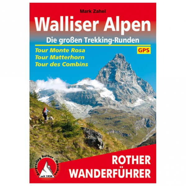 Bergverlag Rother - Walliser Alpen Monte Rosa/Matterhorn - Wandelgidsen