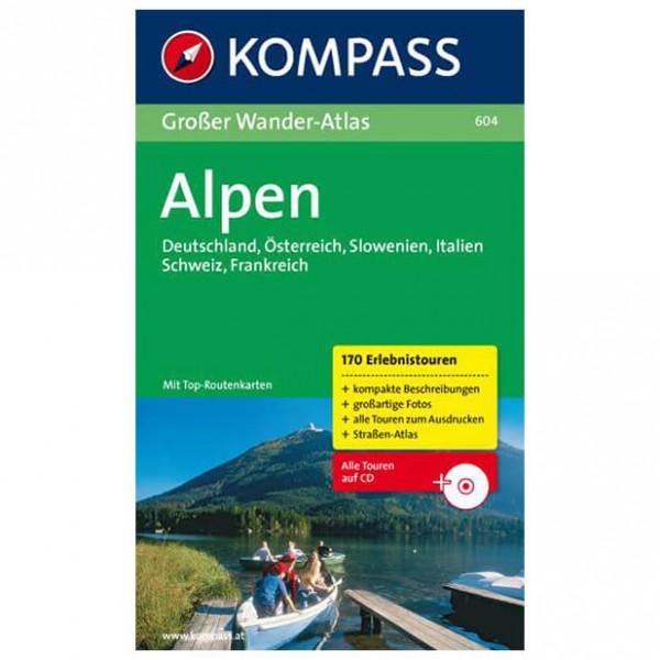 Kompass - Großer Wander-Atlas Alpen - Vandreguides