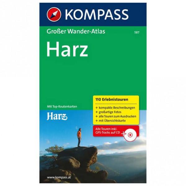 Kompass - Großer Wanderatlas Harz - Wanderführer