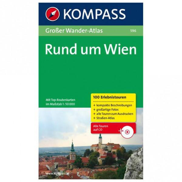 Kompass - Großer Wander-Atlas Rund um Wien - Vaellusoppaat