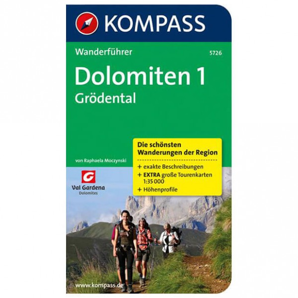 Kompass - Dolomiten 1 - Walking guide books