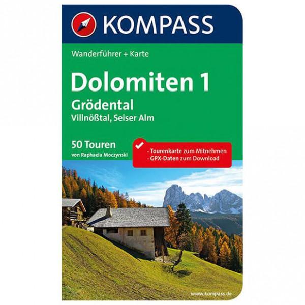 Kompass - Dolomiten 1, Grödental - Vaellusoppaat