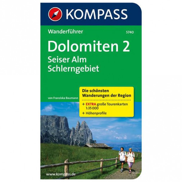 Kompass - Dolomiten 2 - Vaellusoppaat