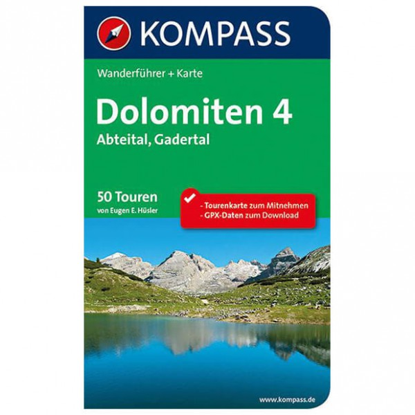 Kompass - Dolomiten 4, Abteital, Gadertal - Wanderführer