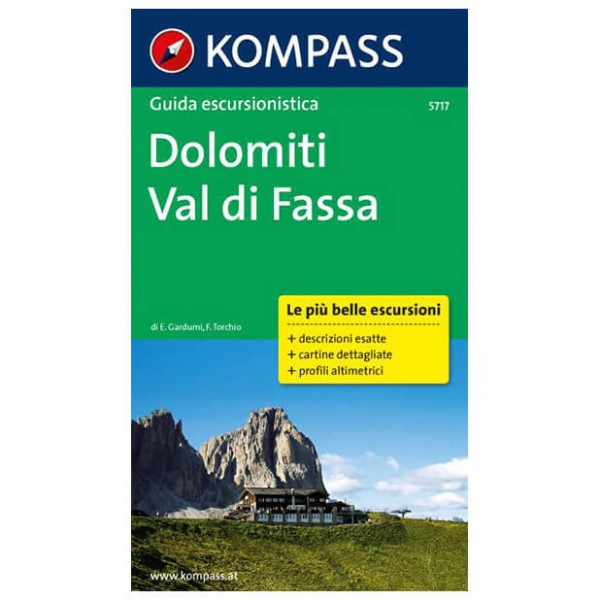 Kompass - Dolomiti - Val di Fassa / Dolomiten - Vandreguides